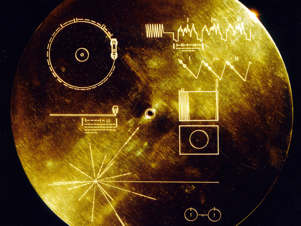 One of two copies of the Voyager Golden Record, the first of which was launched with the Voyager 1 probe on September 5, 1977.