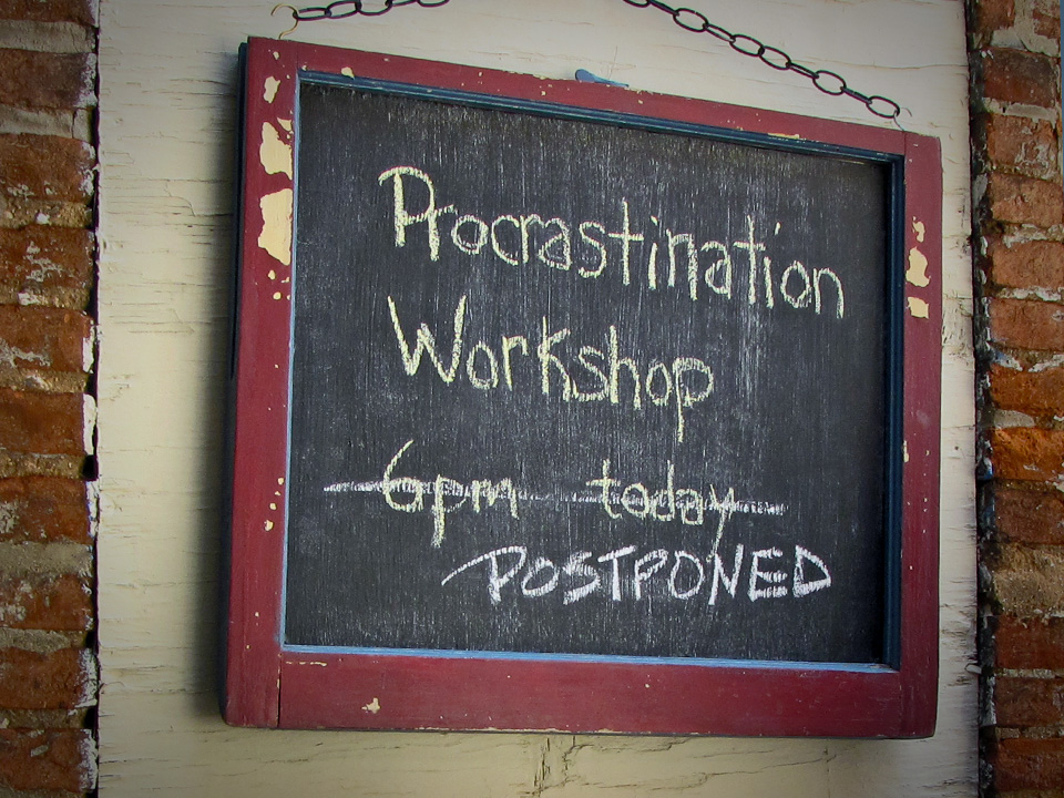I'll stop procrastinating... tomorrow. Image credit Dick Jensen via Flickr