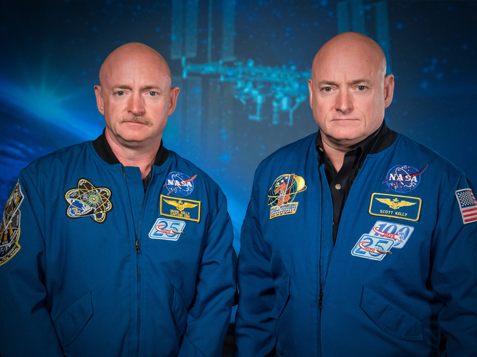 Astronauts Mark and Scott Kelly are part of a twin study